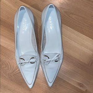 Franco Sarto off white leather pointed toe size 9